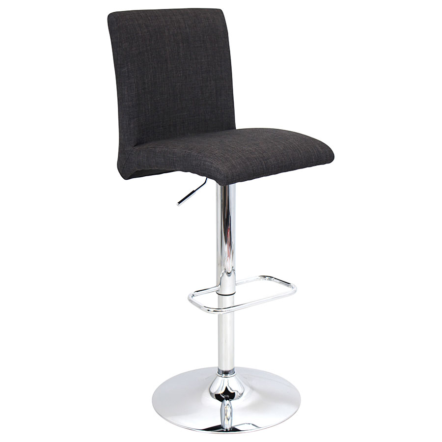 Tarik Charcoal Adjustable Modern Stool