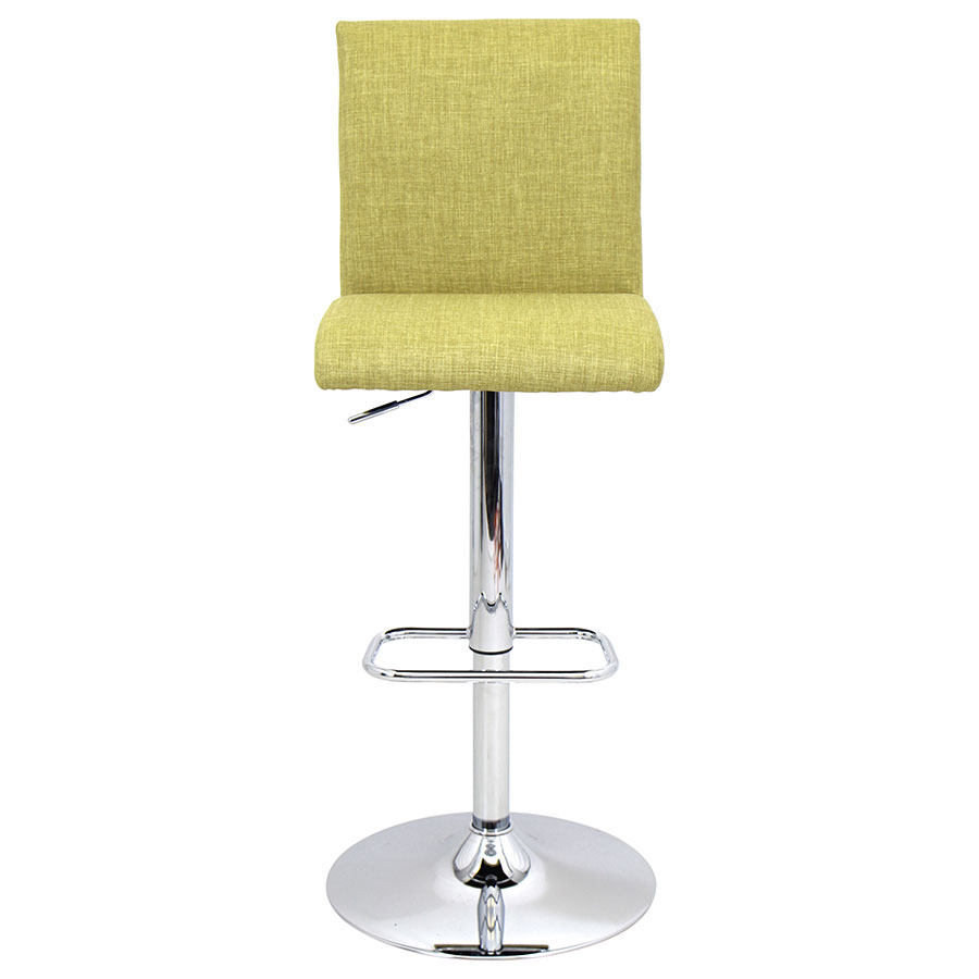 Tarik Green Contemporary Adjustable Stool