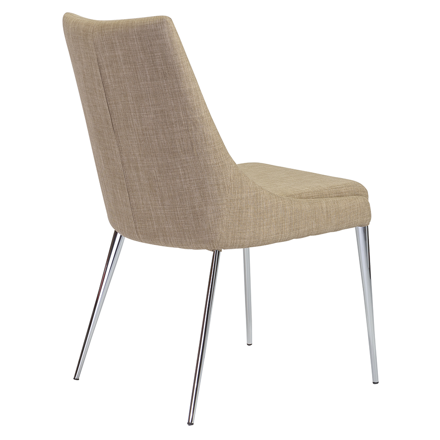 Tarnana Tan Fabric Contemporary Dining Chair