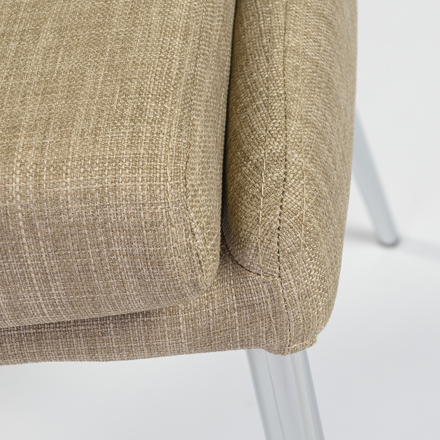 Tarnana Tan Modern Dining Chair Detail