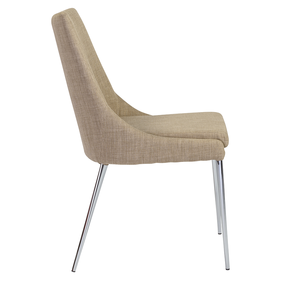 Tarnana Tan Fabric Modern Dining Chair