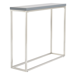 Teresa Matte Gray Modern Console Table