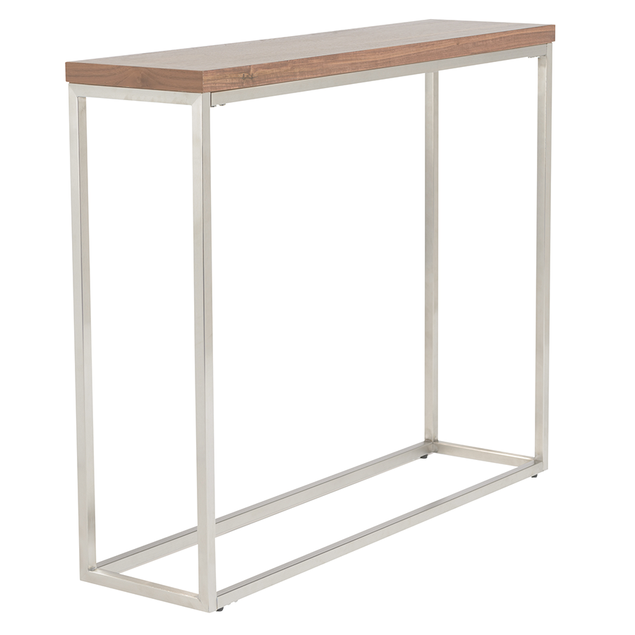 Teresa Walnut Modern Console Table