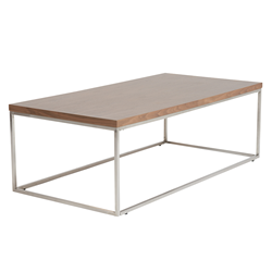 Teresa Walnut Rectangle Modern Coffee Table