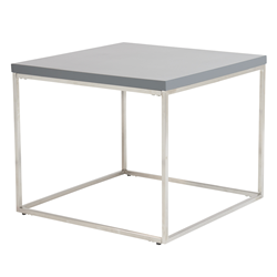 Teresa Matte Gray Modern Side Table