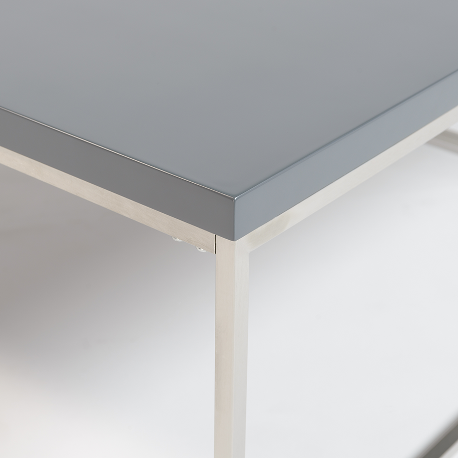 Teresa Matte Gray Square Coffee Table Detail