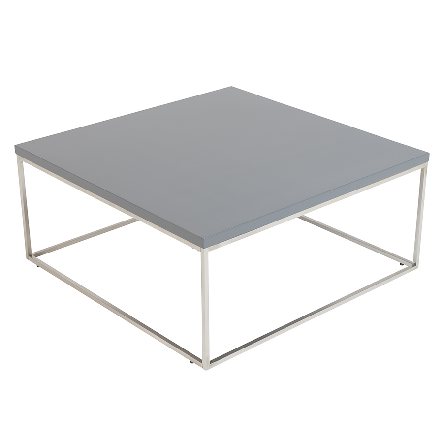 Teresa Matte Gray Square Modern Cocktail Table