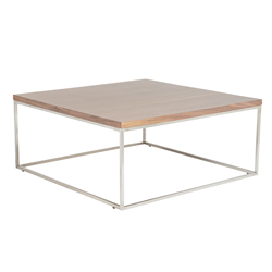 Teresa Square Walnut Modern Coffee Table
