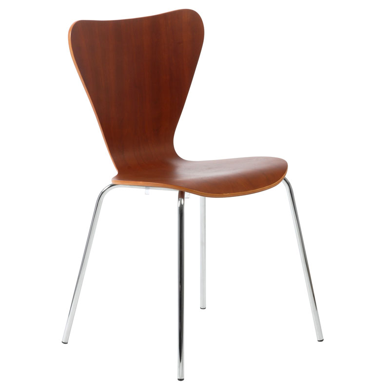 Terrell Cherry Modern Dining Chair ON SALE
