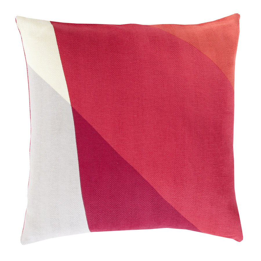 "Terry 18"" Red Modern Pillow"