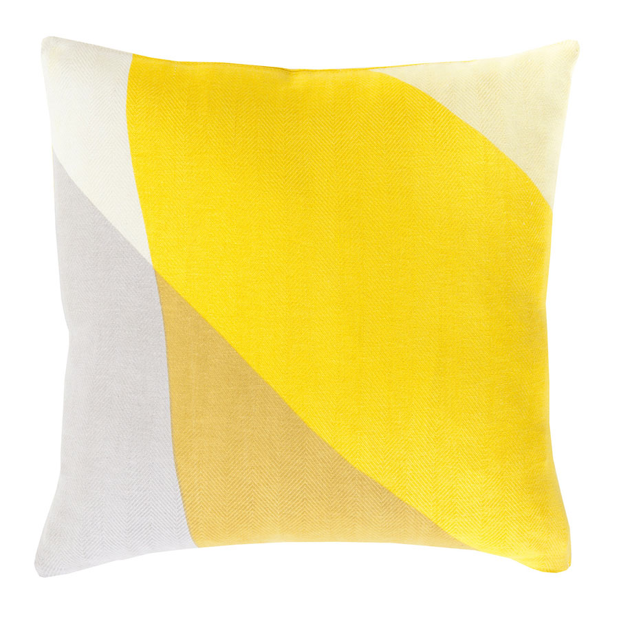 "Terry 22"" Yellow Modern Pillow"
