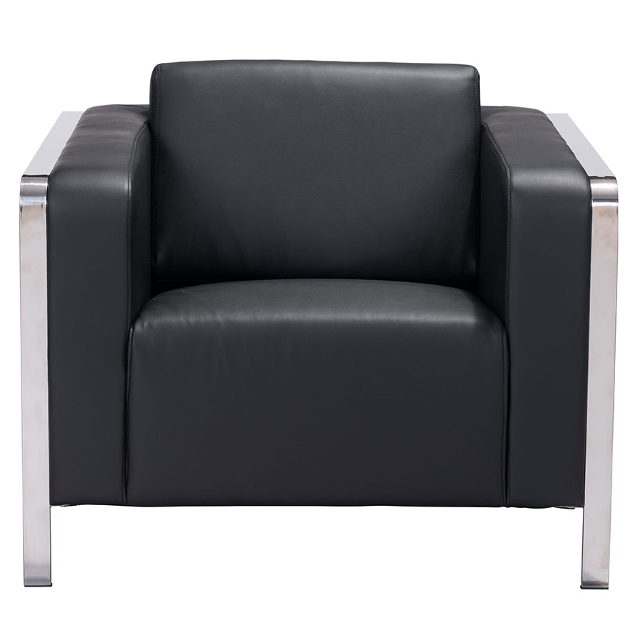 Terzo Black Contemporary Lounge Chair