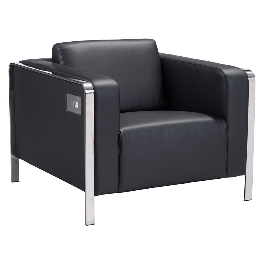 Terzo Black Modern Lounge Chair