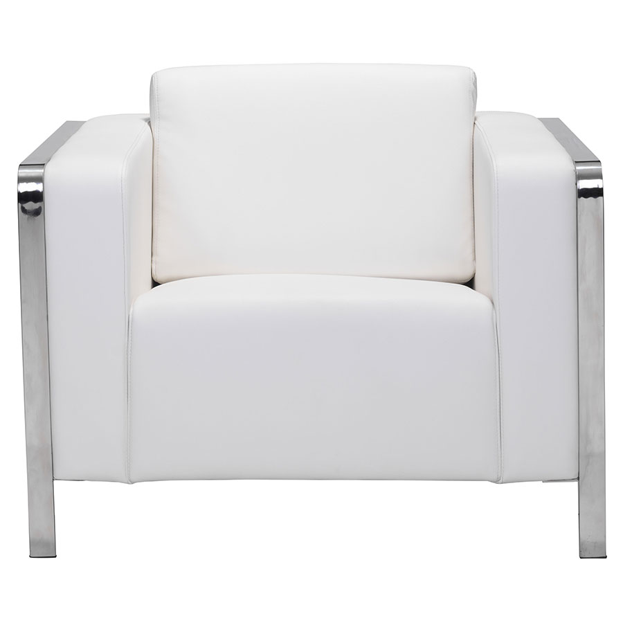 Terzo White Contemporary Lounge Chair