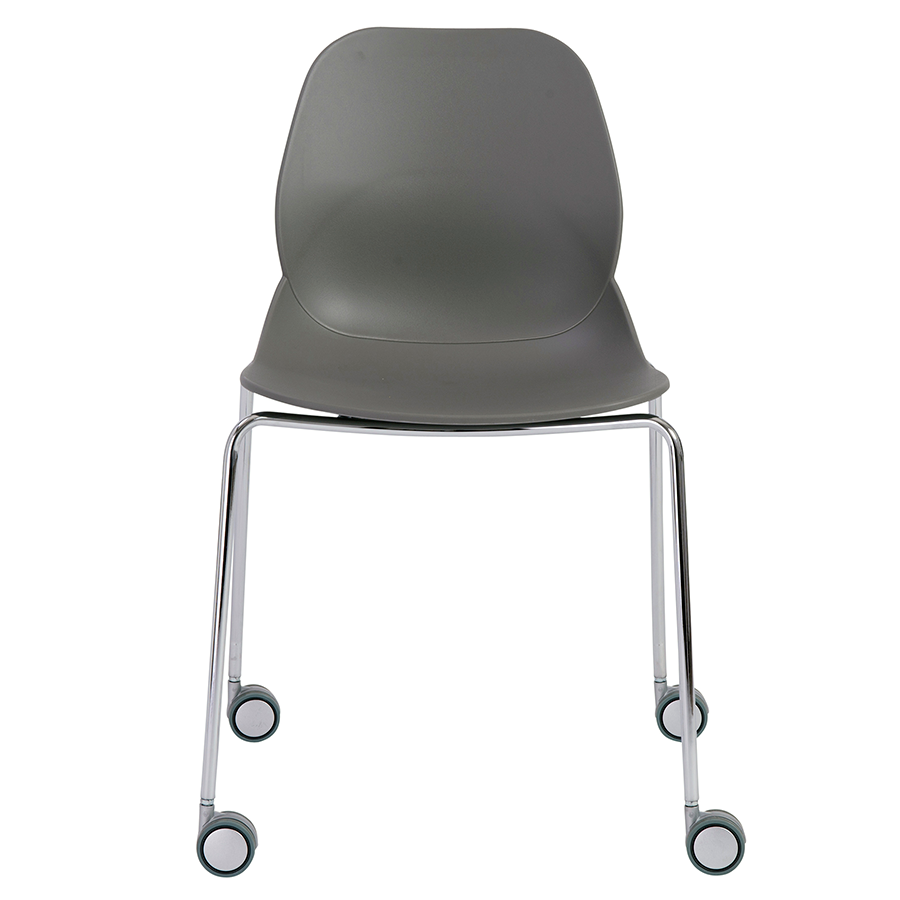 Teven Gray Contemporary Visitor Chair