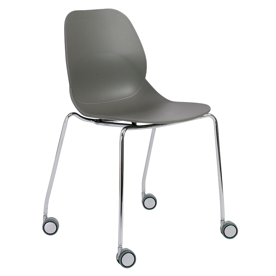 Teven Gray Modern Visitor Chair