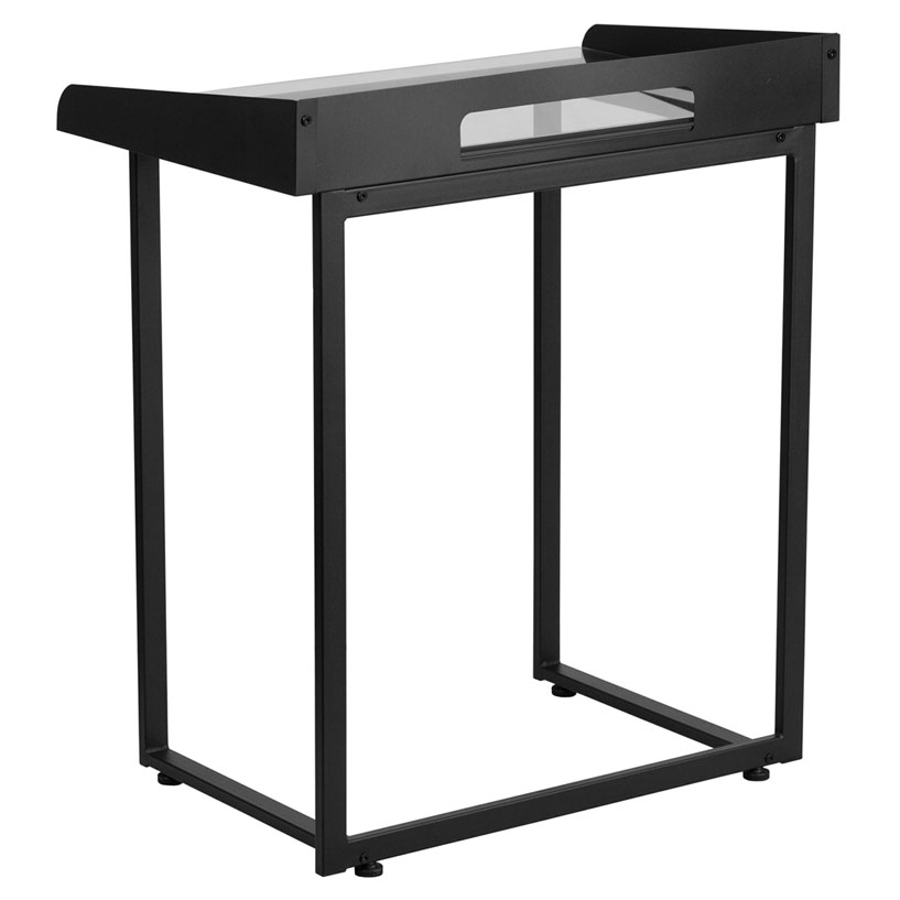 Thurston Modern Black Laptop Desk - Back View