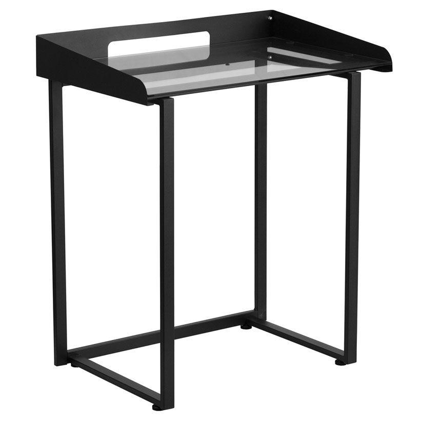 Thurston Modern Black Laptop Desk