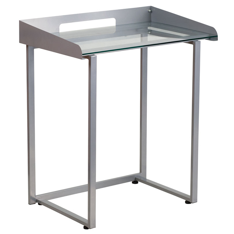 Thurston Modern Silver Laptop Desk