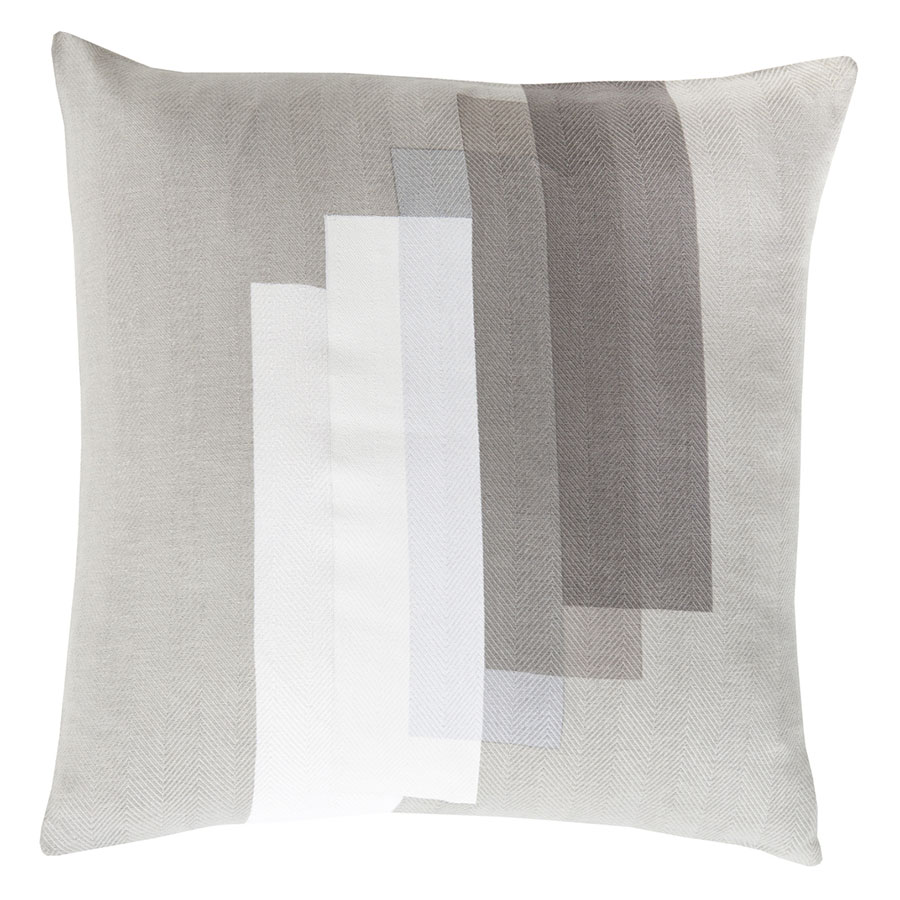 "Timon 18"" Gray Modern Pillow"