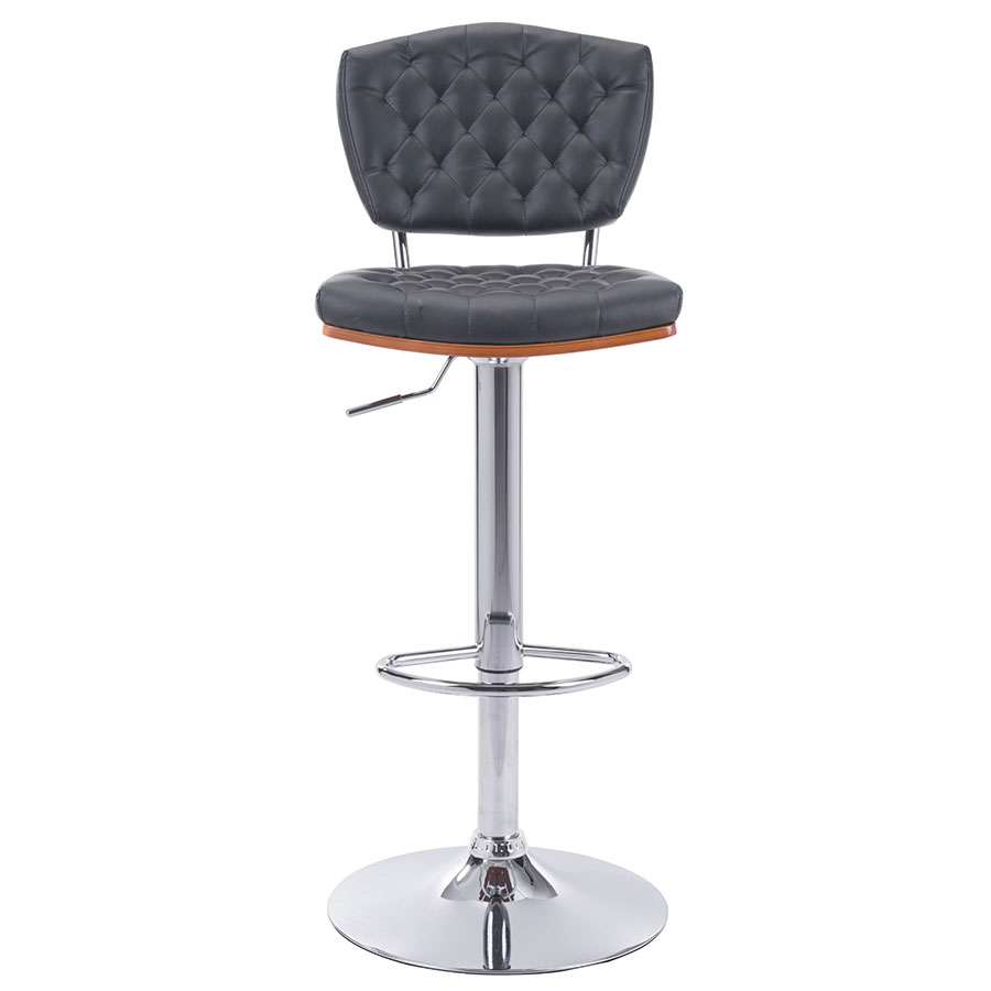Tino Black Contemporary Adjustable Stool