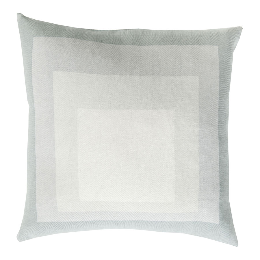 "Tiras 18"" Sea Foam Modern Pillow"