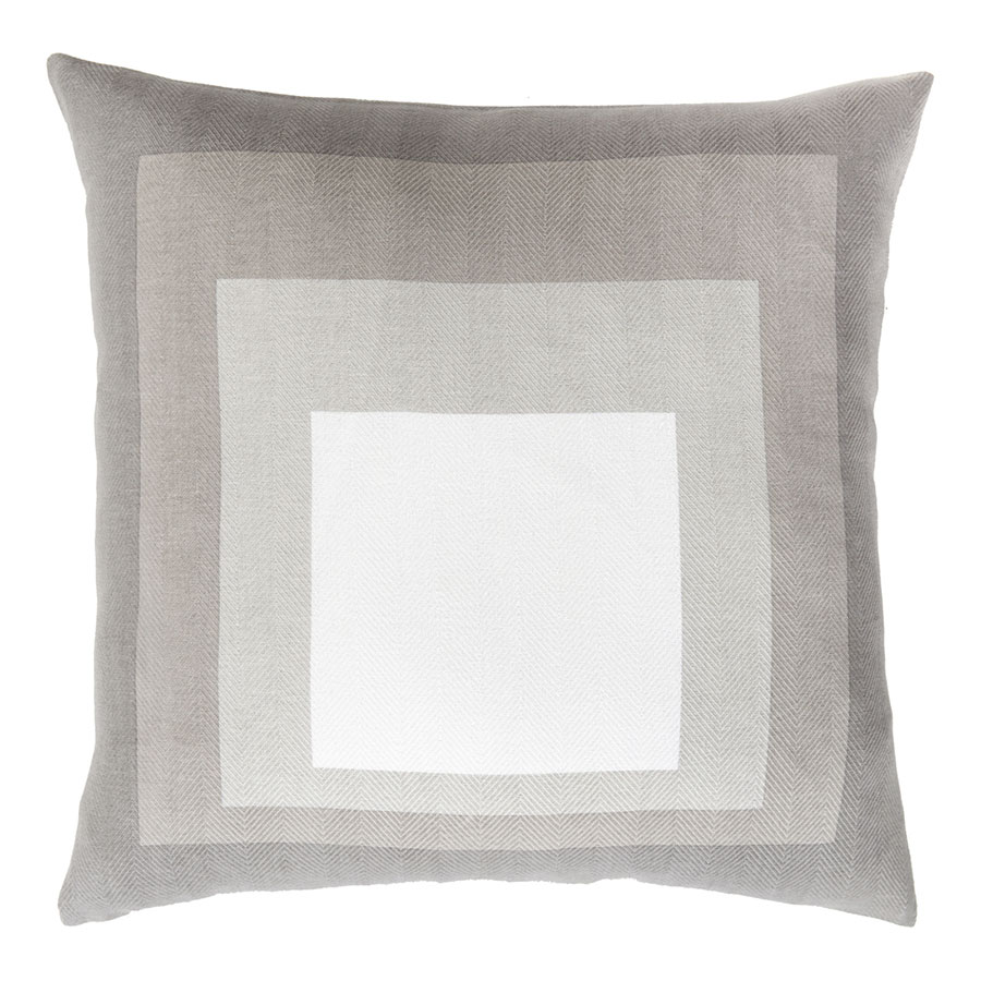 "Tiras 22"" Taupe Modern Pillow"