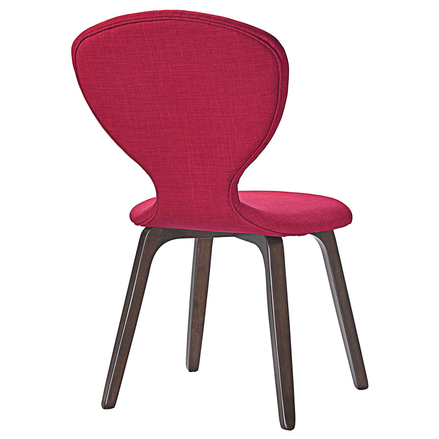 Tomorrow Contemporary Red Dining Chair - Back View