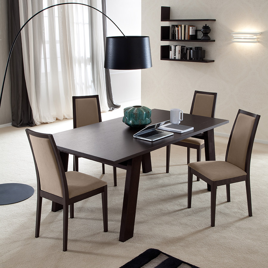 Topic Dining Chair - Wenge and Beige