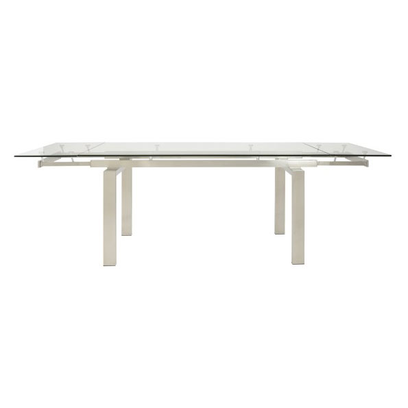 Torrance Modern Brushed Steel Extension Table