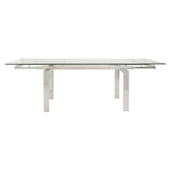 Torrance Modern Polished Steel Extension Table