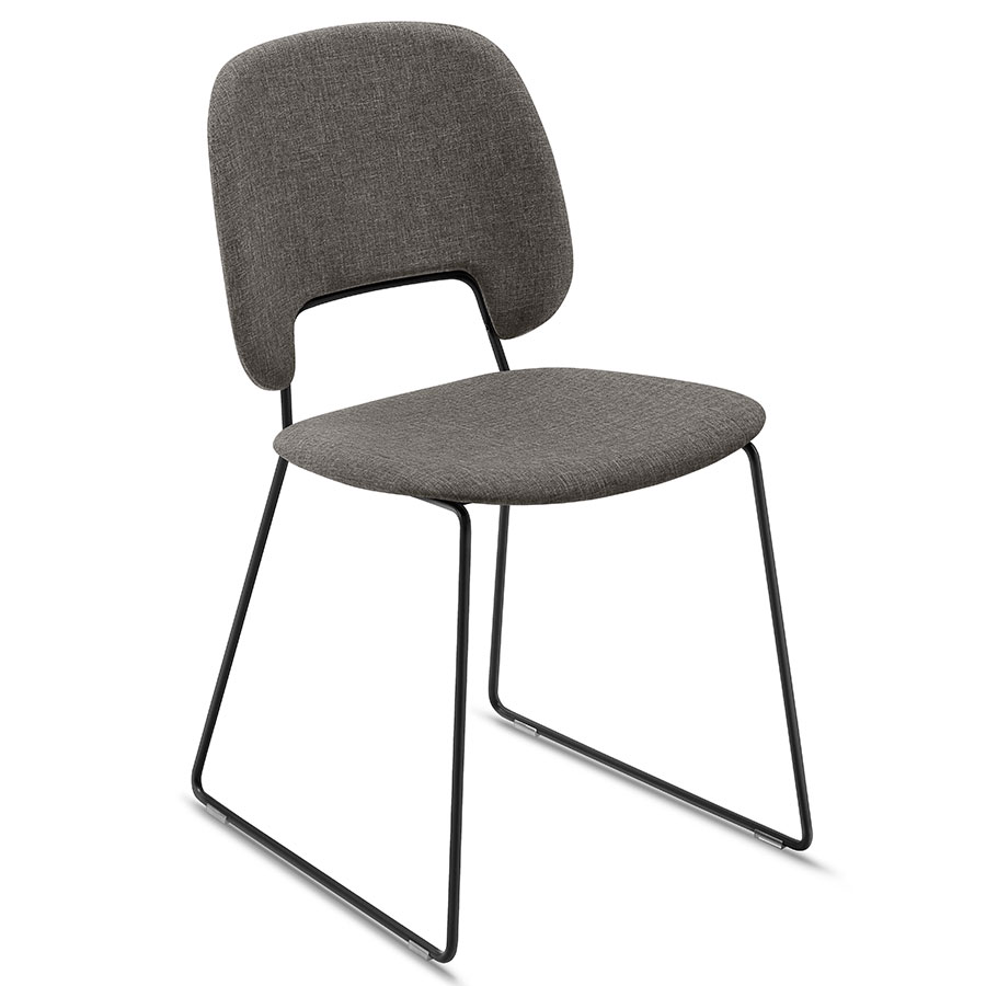 Trajan Black + Brown Modern Dining Chair