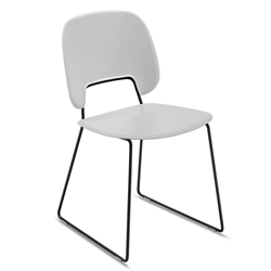 Traffic Black + Gray Modern Sled Dining Chair