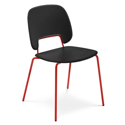 Trajan Red + Black Modern Dining Chair