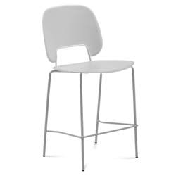 Trajan Tan + Gray Modern Bar Stool