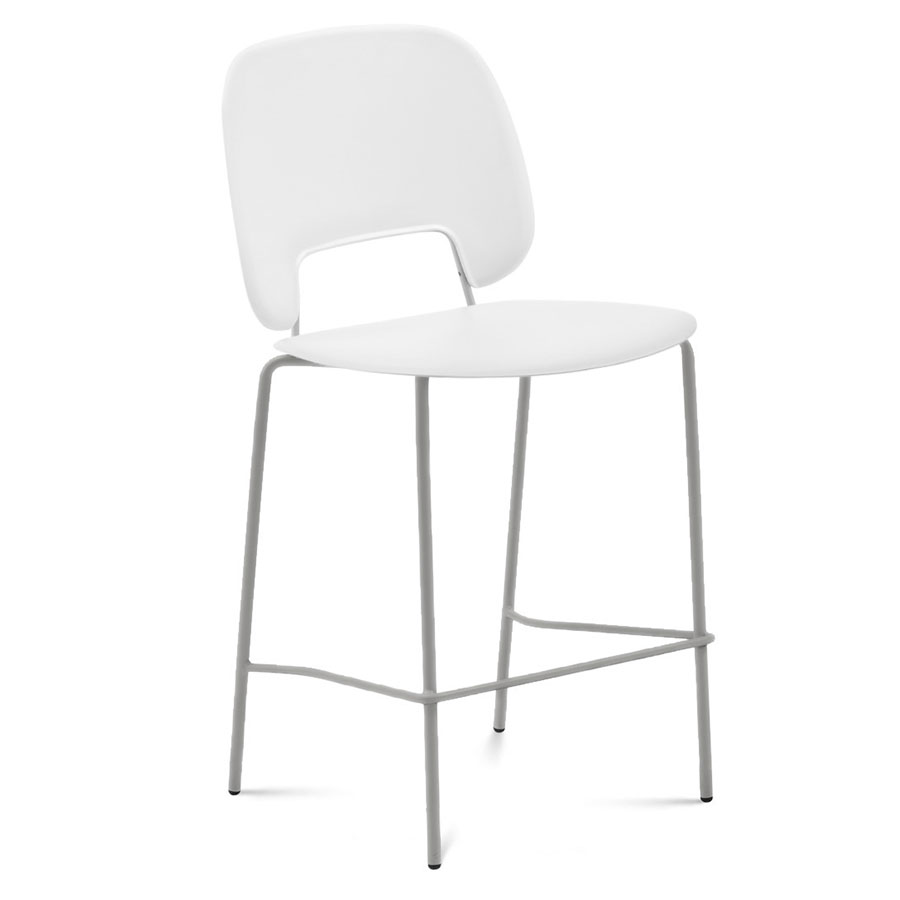 Trajan Tan + White Modern Bar Stool