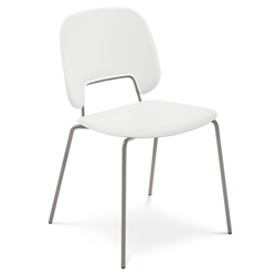 Trajan Tan + White Modern Dining Chair