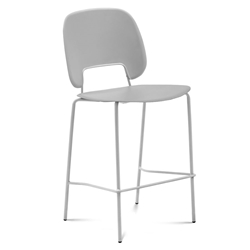 Trajan White + Gray Modern Bar Stool