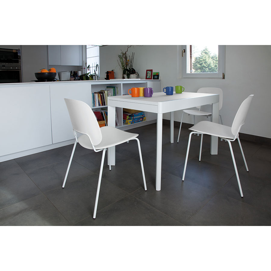 Trajan White Contemporary Set of Dining Chairs