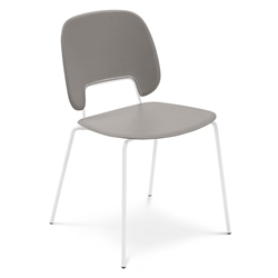 Trajan White + Tan Modern Dining Chair