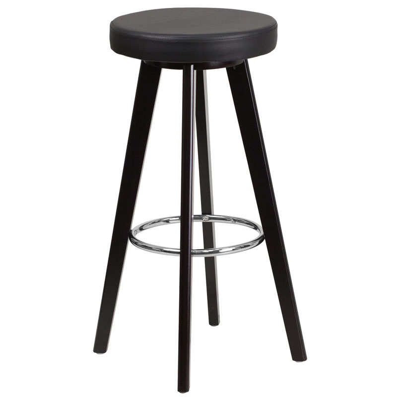 Transcend Cappuccino + Black Modern Bar Stool