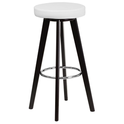 Transcend Cappuccino + White Modern Bar Stool