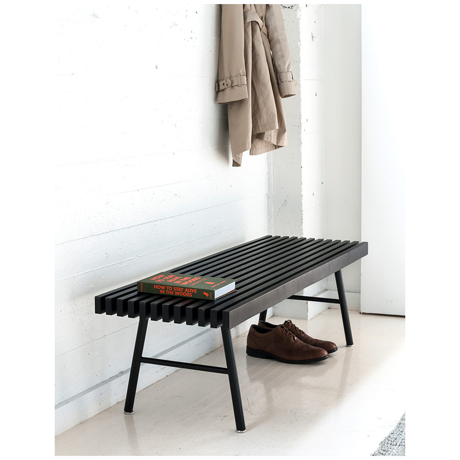 Modern Transit Bench in Black by Gus Modern