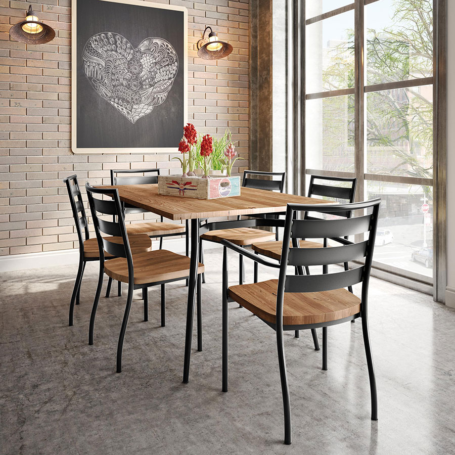 Treviso Wooden Seat Modern Dining Chairs