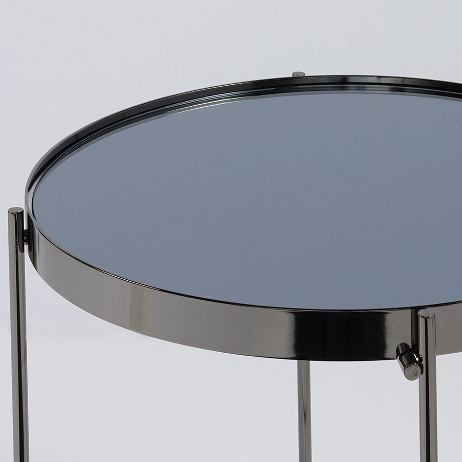 Trinity Black Metal Contemporary Side Table