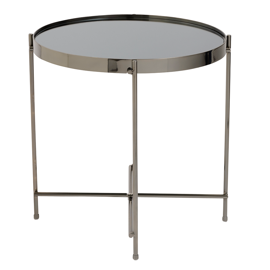 Trinity Black Contemporary Side Table