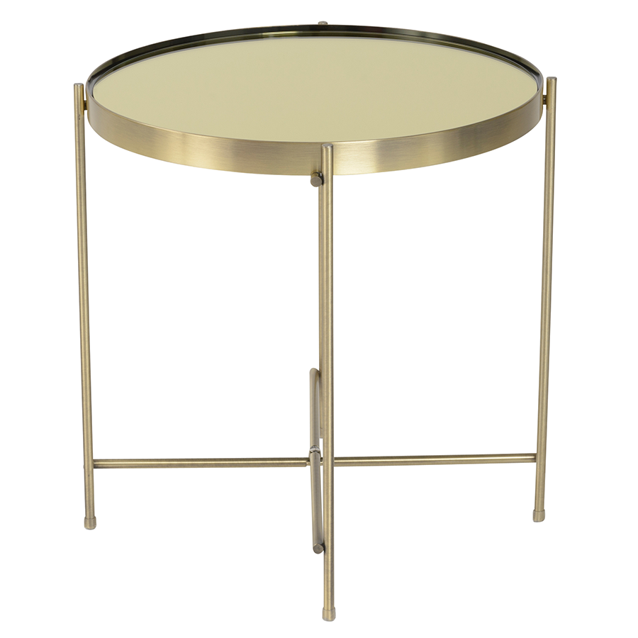 Trinity Brass Contemporary Side Table