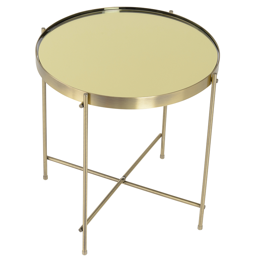 Trinity Brass Metal Contemporary Side Table