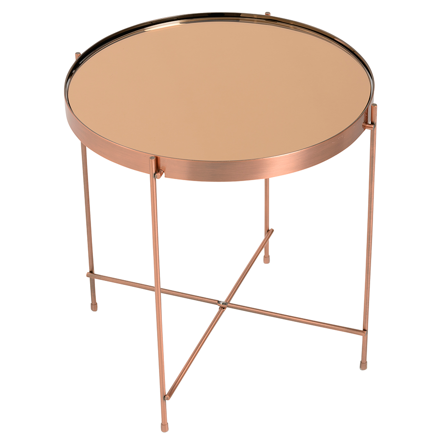 Trinity Copper Metal Contemporary Side Table
