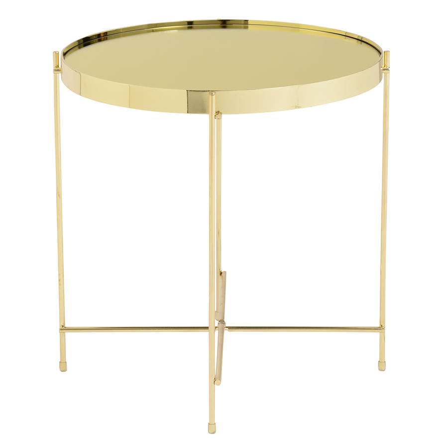 Trinity Gold Contemporary Side Table